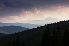 Polska berg, Krupowa Hall Royaltyfria Bilder