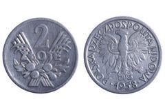 Polska coins Stock Photos