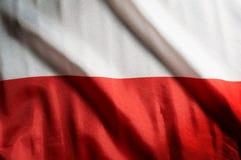 Polska flaga państowowa, tło Zdjęcia Royalty Free