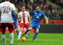 Polska, Iceland Życzliwa gra - Fotografia Stock