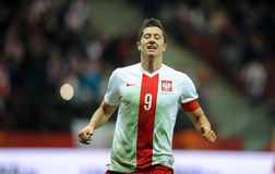 Polska, Iceland Życzliwa gra - Zdjęcia Stock