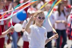Polska konstytucja dnia parada 2018 fotografia royalty free