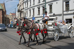 POLSKA KRAKOW, MAJ, - 27, 2016: Krakow jest jeden starzy miasta w Polska i drugi co do wielkości Zdjęcie Royalty Free