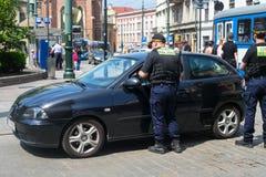 POLSKA KRAKOW, MAJ, - 27, 2016: Połysk strażnicy rozkazu monitor Zdjęcie Royalty Free