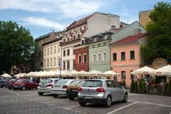 POLSKA KRAKOW, MAJ, - 27, 2016: W centre ulicach Kazimierz Żydowski okręg Krakow Fotografia Royalty Free