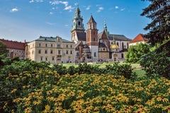 Polska, Krakow Sierpień 09-2017 Wawel Góruje katedra o Zdjęcie Royalty Free