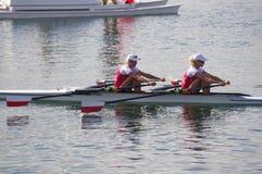 Polska kvinnors coxless par på OS:er Rio2016 Royaltyfri Foto