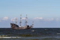 Polska morza bałtyckiego żeglowania stary statek Fotografia Stock