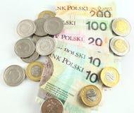 Polska pengar Royaltyfria Foton