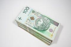 Polska pengar Royaltyfri Fotografi