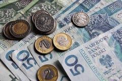 Polska pengar Arkivfoto