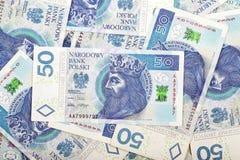 Polska pengar, en bakgrund Royaltyfri Fotografi