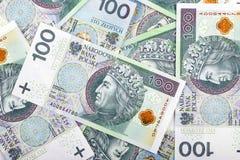 Polska pengar, en bakgrund Royaltyfri Bild