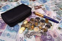 Polska pieniądze pensja Fotografia Royalty Free