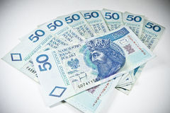 Polska PLN waluta 50 Obrazy Royalty Free