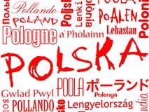 Polska, Poland, Pologne ilustração do vetor