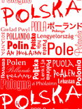 Polska, Poland, Pologne. Word Poland in foreign languages Royalty Free Stock Photography