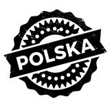 Polska Poland stamp Royalty Free Stock Photography