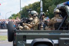 Polska policja wojskowa Zdjęcie Stock