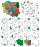 Polska prowinci granicy - warstwy DALEJ lub DALEKO Obraz Royalty Free