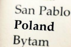 Polska słowo pisać na papierze Zdjęcia Royalty Free
