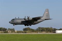 Polska siły powietrzne Hercules Obraz Royalty Free