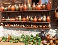 Polska Sprzedaż ceramiczny artykuły w Kazimezhe Dolnom zdjęcie stock