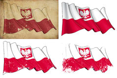 Polska stan Flaga Zdjęcia Stock