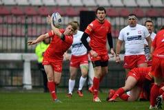 Polska, Szwajcaria rugby gra - Obrazy Stock