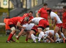 Polska, Szwajcaria rugby gra - Fotografia Stock