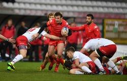 Polska, Szwajcaria rugby gra - Zdjęcie Stock