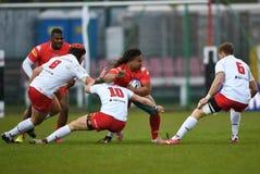 Polska, Szwajcaria rugby gra - Zdjęcia Stock