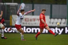Polska, Szwajcaria rugby gra - Fotografia Royalty Free