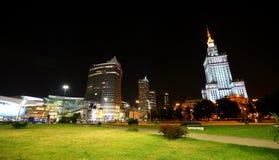 Polska warsaw Stalin ` s drapacz chmur w centrum Warszawa Zdjęcia Royalty Free