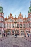 Polska 13 Wrzesień 2018 Gdański widok przód liczba wyjątkowo wznawiający i barwioni budynki od 1920s, stoi obrazy stock