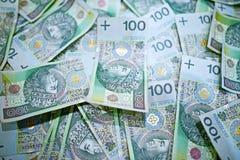 100 polska Zlotyräkningar Royaltyfri Bild