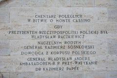 Polski cmentarz przy Montecassino Obraz Stock