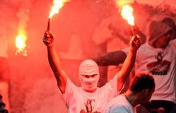 Polski finał rozgrywek pucharowych: Legia-Lech Fotografia Stock