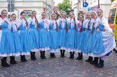 Polski Kanadyjski Ludowego tana zespół Zdjęcia Royalty Free