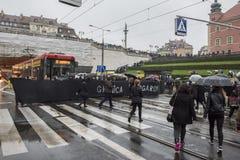 Polski kobieta strajk przeciw aborcja zakazowi Zdjęcie Royalty Free