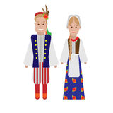 Polski krajowy kostium Fotografia Stock