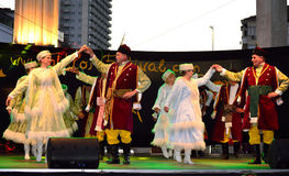 Polski krajowy taniec Obraz Stock