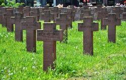 Polski militarny cmentarz obrazy stock