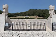 Polski militarny cmentarz Montecassino fotografia royalty free