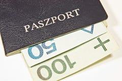 Polski paszport Fotografia Royalty Free