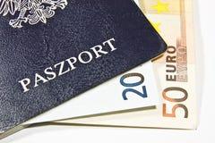 Polski paszport Zdjęcia Royalty Free