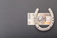 Polski pieniądze szczęście Zdjęcia Stock