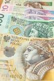 Polski pieniądze - złoty Zdjęcie Stock