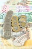 Polski pieniądze - złoty Obraz Royalty Free