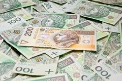 Polski pieniądze Obrazy Royalty Free